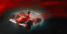 Automotive Motorsport Car Art Michael Schumacher 2001 Ferrari F1  CANVAS PRINT