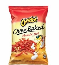Cheetos Oven Baked Flamin' Hot 2 BAGS 7 5/8 oz Gluten Free 50% Less Fat Snacks