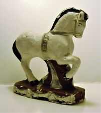 Vintage Chalk Trojan Horse Figurine, Carnival Prize , Dated 20 May '45