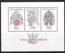 Czech Republic Sc 3040 NH SOUVENIR SHEET of 1998 - ART