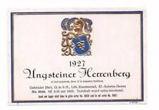 Germany - Wine Label - Gebruder Illert, Hanau - 1927 Ungsteiner Herrenberg