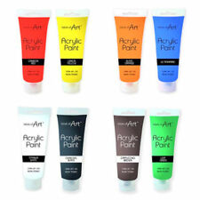 WORK OF ART ACRYLIC PAINTS-  120ML TUBE - 8 COLOURS TO CHOOSE - NON TOXIC - 6723