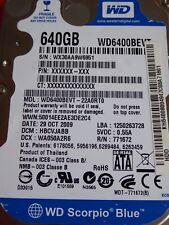 Western Digital WD 6400 bevt - 22a0rt0 | hbcvjabb | 29 oct 2009 | 640gb #12