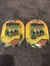 2 SETS LOT Teenage Mutant Ninja Turtles Mighty Beanz 5 inside ea pkg 2003 RARE