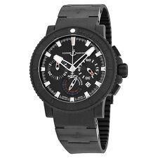 Ulysse Nardin Black Sea Chronograph Black Dial Black Rubber Mens Watch 353-92-3C