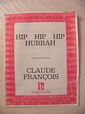 Partition Hip Hip Hip Hurrah Serge Gainsbourg Claude François