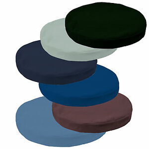 mb Flat Velvet Style Plain Colors 3D Round Shape Seat Cushion Cover Custom Size