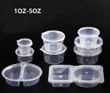 Sauce En Plastique Transparent Jetable Boîte De Rangement Conteneur Alimentaire