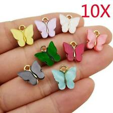 10x Acrylic Butterfly Charms Pendant  for Jewelry Making Necklace Earring Crafts
