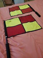 2PCS/Set Champion Sports Linesman Referee Football Soccer Flags