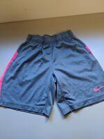 Girls Nike Basketball Shorts Size S (7/8) Pink & Grey