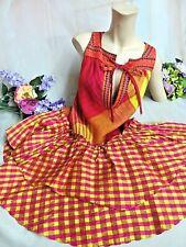 Vintage 90s Couture Christian Lacroix Barzar Dress 100% Silk fuchsia Linen 36/ 6