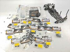 Serpent S411 Partial Roller Slider Chassis Parts Car w/ Spare Part Lot