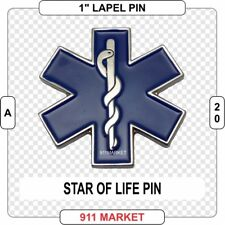 Star of Life Lapel Pin EMT Paramedic Medical EMS Save RN LPN RPN EMS Nurse  A 20