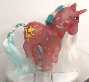 Vtg G1 My Little Pony GLOW N SHOW DAZZLE GLOW, DAZZLEGLOW - Pink Hearts HTF Rare