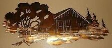 """THE OLD BARN METAL WALL ART DECOR by HGMW  30"""" x 13"""""""