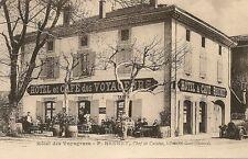 CARTE POSTALE HOTEL DES VOYAGEURS F.BRUNET TABAC LIVRON GARE DROME