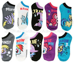 My Little Pony Character Ponies No-Show Ankle Ladies Socks 5 Pair Licensed NWT