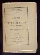 GREGOROVIUS Ferdinando, Storia della città di Roma nel Medio Evo