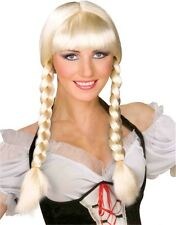 Inga From Sweden Beer Maiden Blonde Pigtails Country Girl Wig