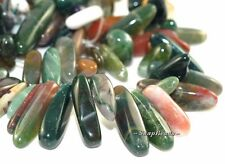 """SANCTUARY INDIAN AGATE GEMSTONE PEBBLE CHIP 23X8MM LOOSE BEADS 8"""""""
