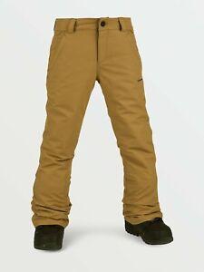 2021 NWT YOUTH VOLCOM FREAKIN SNOW CHINO SNOWBOARD PANTS $115 M Burnt Khaki