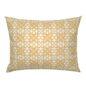 Swedish Geometric Retro Floral Abstract Modern Pillow Sham by Roostery