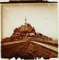 FRANCE Mont Saint-Michel ca 1910, Photo Stereo Plaque Verre PL59OY6