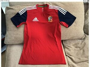 """Adidas British Lions 2013 Red/Navy T-Shirt Size Small 38/40"""" Chest In Great Cond"""