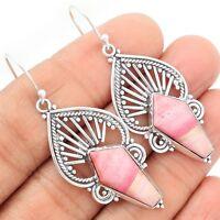 Australian Pink Opal 925 Sterling Silver Earrings Jewelry SE88992