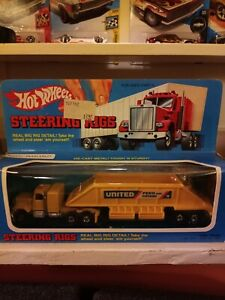 Vintage Hot Wheels Steering Rig GMC HAULER Trucking unpunched mint