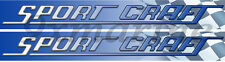 Two Sport Craft Vinyl Decals 16 Inches long each Die Cut