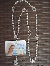 Rosary Our Lady Of The Seven Sorrows Pearl Beads Mater Dolorosa +Gift holy Card
