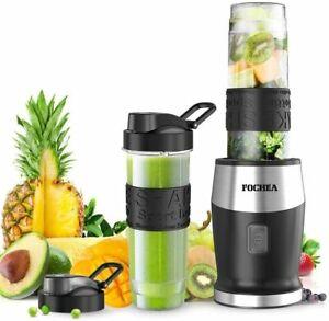 FOCHEA Blender with 2 Botttles smoothie mixer maker milkshake juices