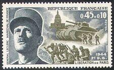 Francia 1969 la Segunda Guerra Mundial/militar/guerra/Ejército/Gen Leclerc/Tanque/Soldados/edificios 1 V n41775