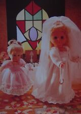 "DOLLS CLOTHES~ BRIDE~MAID~ OUTFIT TO FIT 16-20-24"" DOLL KNITTING PATTERN (DOLLY)"