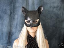 CATWOMAN HOOD MASK Female Latex Ear Maske Batman Katze Halloween Haube Pet Play