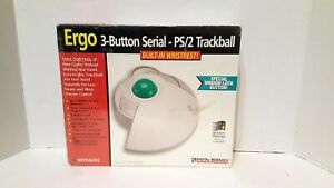 NEW & SEALED Digital Research Ergo 3-Button Serial PS/2 Trackball Mouse DRTRACKE