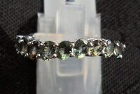 VERY Rare Natural Tunduru Colour Change Sapphire Ring Sterling Silver 1.60cts L~