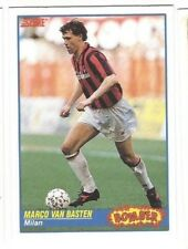 ALL STAR MARCO VAN BASTEN Rare BOMBER '91 SCORE CARD with AC MILAN