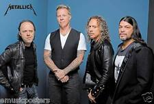 "Metallica ""Group By Blue Background"" Poster From Asia - Metal Music (J-4757)"