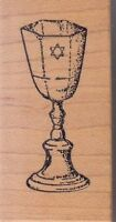 "cup kiddu the artist stamps Wood Mounted Rubber Stamp 1 x 2""  Free Shipping"