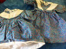 poupée ,bella ,raynal ,gégé ,vintage robe bleue petite fleurs style liberty