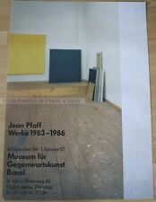 swiss EXHIBITION POSTER 1986  - JEAN PFAFF - WORKS 1983-1986 art print basel