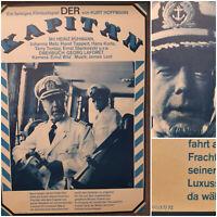 DER KAPITÄN   1972 Kino Plakat Poster A2   Heinz Rühmann Horst Tappert H. Korte