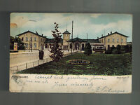 1904 Nordhausen Germany Postcard Cover to London England Bahnhof Train Station