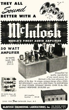 1960s McIntosh Tube Amplifies Store Poster 12 x 19 Giclee print