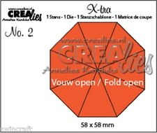 Crealies X-tra Fold Open Die - Octagon 8 Parts CLXTRA02 / 58x58 mm