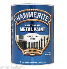 Hammerite DIRECTO A óxido Pintura Metalica lisa negro azul verde blanco de plata