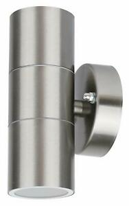 Garden Outdoor Stainless Steel Wall Dual Light Post Fence Security Patio GU10